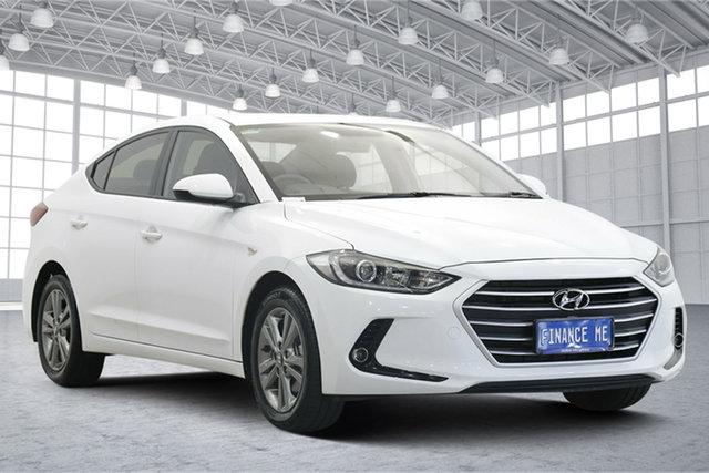 Used Hyundai Elantra AD MY17 Active Victoria Park, 2016 Hyundai Elantra AD MY17 Active Polar White 6 Speed Sports Automatic Sedan