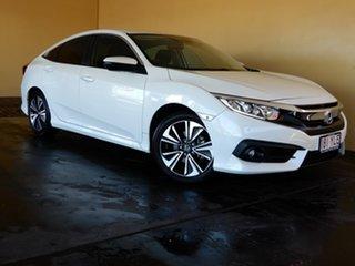 2018 Honda Civic MY18 VTi-L White Continuous Variable Sedan.