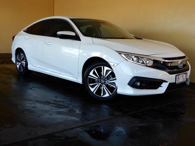 Used Honda Civic MY18 VTi-L Toowoomba, 2018 Honda Civic MY18 VTi-L White Continuous Variable Sedan
