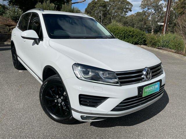 Used Volkswagen Touareg 7P MY16 150TDI Tiptronic 4MOTION Totness, 2016 Volkswagen Touareg 7P MY16 150TDI Tiptronic 4MOTION White 8 Speed Sports Automatic Wagon