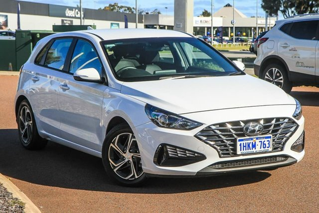 Used Hyundai i30 PD.V4 MY21 Rockingham, 2020 Hyundai i30 PD.V4 MY21 Polar White 6 Speed Sports Automatic Hatchback