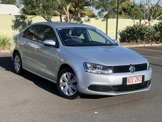 2012 Volkswagen Jetta 1B MY13 118TSI DSG Silver 7 Speed Sports Automatic Dual Clutch Sedan.
