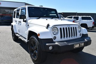 2018 Jeep Wrangler JL MY18 Unlimited Overland White 8 Speed Automatic Hardtop.