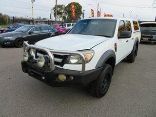 2010 Ford Ranger PK XL Hi-Rider (4x2) White 5 Speed Manual Dual Cab Pick-up.
