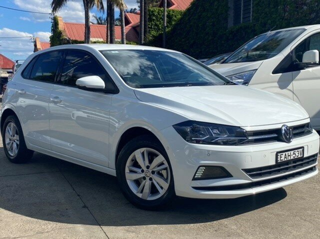 Pre-Owned Volkswagen Polo AW MY19 85TSI Comfortline Mosman, 2018 Volkswagen Polo AW MY19 85TSI Comfortline White 7 Speed Auto Direct Shift Hatchback