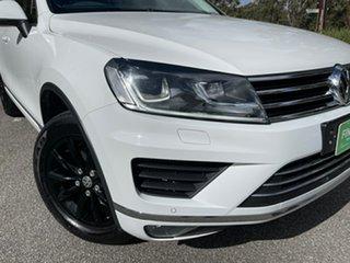 2016 Volkswagen Touareg 7P MY16 150TDI Tiptronic 4MOTION White 8 Speed Sports Automatic Wagon.