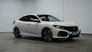 2018 Honda Civic 10th Gen MY18 VTi-LX White 1 Speed Constant Variable Hatchback.
