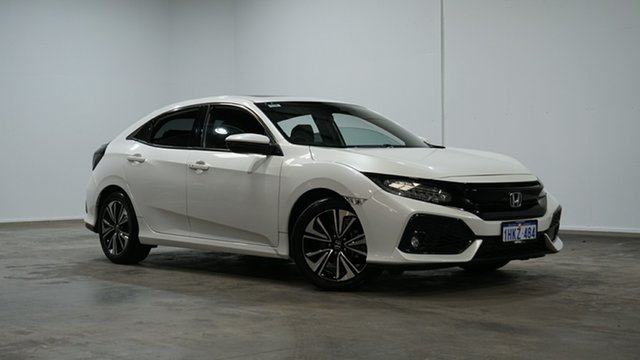 Used Honda Civic 10th Gen MY18 VTi-LX Welshpool, 2018 Honda Civic 10th Gen MY18 VTi-LX White 1 Speed Constant Variable Hatchback