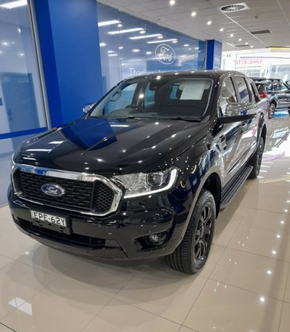 Demo Ford Ranger PX MkIII 2021.25MY XLT Homebush, 2021 Ford Ranger PX MkIII 2021.25MY XLT Shadow Black 10 Speed Sports Automatic Super Cab Pick Up