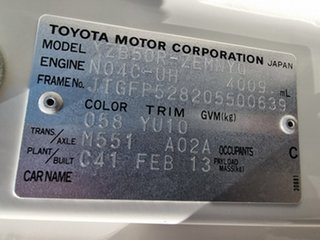 2013 Toyota Coaster Deluxe White Passenger Bus