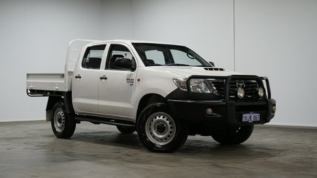 Used Toyota Hilux KUN26R MY14 SR Double Cab Welshpool, 2015 Toyota Hilux KUN26R MY14 SR Double Cab White 5 Speed Automatic Utility