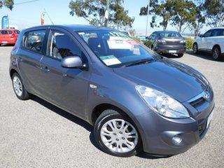 2012 Hyundai i20 PB MY12 Active Grey 4 Speed Automatic Hatchback.