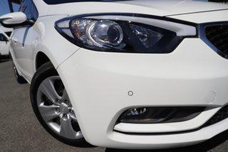 2015 Kia Cerato YD MY15 S Clear White 6 Speed Sports Automatic Sedan.