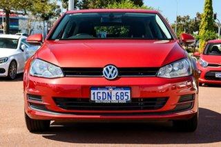 2016 Volkswagen Golf VII MY16 92TSI DSG Comfortline Red 7 Speed Sports Automatic Dual Clutch