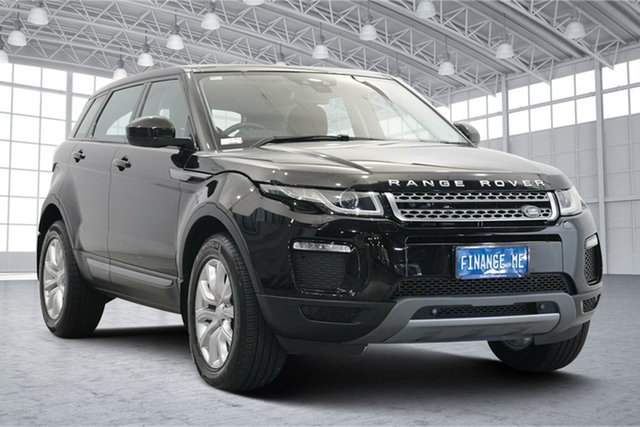 Used Land Rover Range Rover Evoque L538 MY18 SE Victoria Park, 2018 Land Rover Range Rover Evoque L538 MY18 SE Narvik Black 9 Speed Sports Automatic Wagon