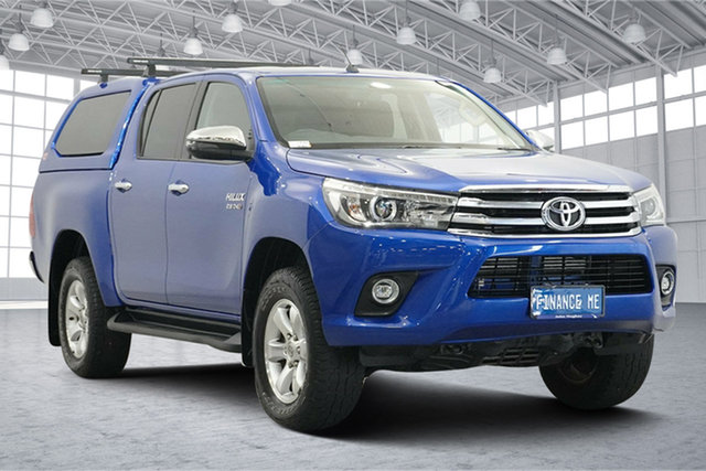 Used Toyota Hilux GUN126R SR5 Double Cab Victoria Park, 2018 Toyota Hilux GUN126R SR5 Double Cab Blue 6 Speed Sports Automatic Utility