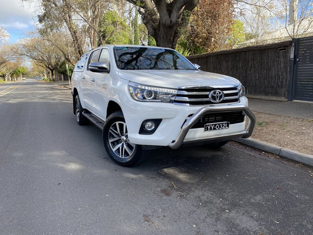 Pre-Owned Toyota Hilux GUN126R SR5 Double Cab Hawthorn, 2016 Toyota Hilux GUN126R SR5 Double Cab White 6 Speed Sports Automatic Utility
