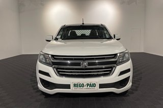 2018 Holden Colorado RG MY18 LS Crew Cab White 6 speed Automatic Cab Chassis.