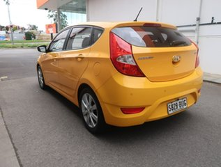 2017 Hyundai Accent RB6 MY18 Sport Yellow 6 Speed Sports Automatic Hatchback