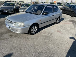 2000 Hyundai Accent LC GL Silver 4 Speed Automatic Hatchback.