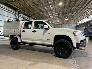 2008 Holden Colorado RC LX Crew Cab White 5 Speed Manual Cab Chassis.