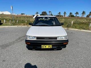 1991 Toyota Corolla AE92 CS White 3 Speed Automatic Sedan.