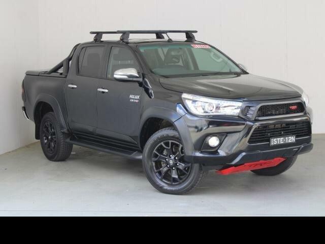 Used Toyota Hilux GUN126R TRD Black (4x4) Phillip, 2017 Toyota Hilux GUN126R TRD Black (4x4) Eclipse Black 6 Speed Automatic Dual Cab Utility