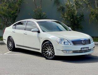 2007 Nissan Maxima J31 MY06 TI White 6 Speed Constant Variable Sedan.