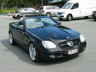 1999 Mercedes-Benz SLK230 Kompressor Black 5 Speed Automatic Convertible.