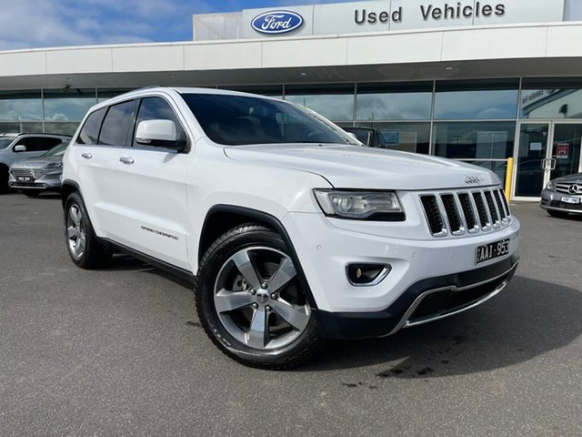 Used Jeep Grand Cherokee WK MY2014 Limited Essendon Fields, 2013 Jeep Grand Cherokee WK MY2014 Limited White 8 Speed Sports Automatic Wagon