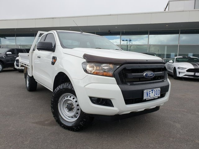 Used Ford Ranger PX MkII 2018.00MY XL Essendon Fields, 2018 Ford Ranger PX MkII 2018.00MY XL White 6 Speed Sports Automatic Cab Chassis