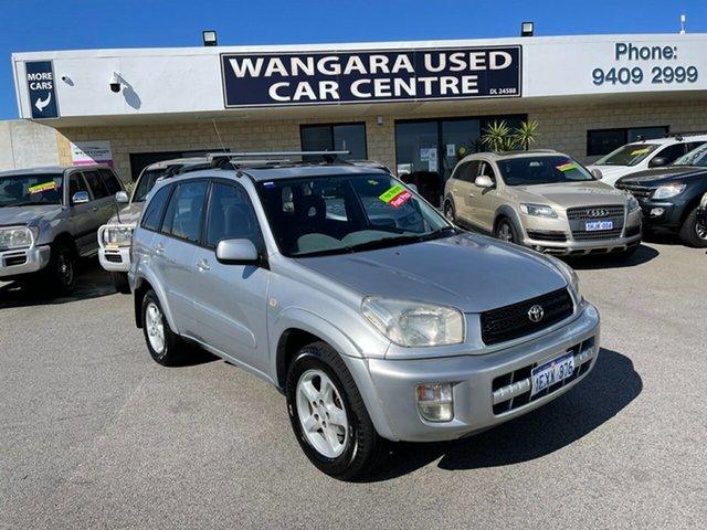 Used Toyota RAV4 ACA21R Cruiser (4x4) Wangara, 2003 Toyota RAV4 ACA21R Cruiser (4x4) Silver 4 Speed Automatic 4x4 Wagon