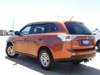 2013 Mitsubishi Outlander ZJ MY13 LS 2WD Orange 6 Speed Constant Variable Wagon.