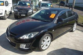 2009 Mazda 6 GH1051 MY09 Luxury Sports Black 5 Speed Sports Automatic Hatchback.