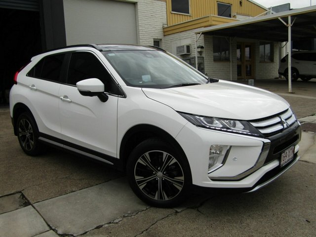 Used Mitsubishi Eclipse Cross YA MY18 Exceed AWD Moorooka, 2017 Mitsubishi Eclipse Cross YA MY18 Exceed AWD White 8 Speed Constant Variable Wagon
