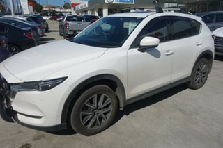 2017 Mazda CX-5 KE1022 Grand Touring SKYACTIV-Drive i-ACTIV AWD White 6 Speed Sports Automatic Wagon.