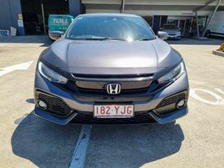 2018 Honda Civic 10th Gen MY18 VTi-LX Grey 1 Speed Constant Variable Hatchback.