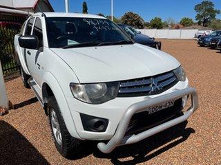 2012 Mitsubishi Triton MN MY12 GLX Double Cab 4x2 White 5 Speed Manual Utility.