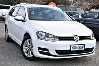 2015 Volkswagen Golf VII MY15 90TSI DSG Comfortline Pure White 7 Speed Sports Automatic Dual Clutch.
