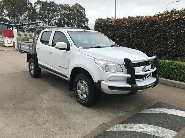 Used Holden Colorado RG MY16 LS Crew Cab Acacia Ridge, 2016 Holden Colorado RG MY16 LS Crew Cab White 6 speed Manual Cab Chassis
