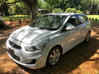 2018 Hyundai Accent RB6 MY19 Sport White 6 Speed Automatic Hatchback.