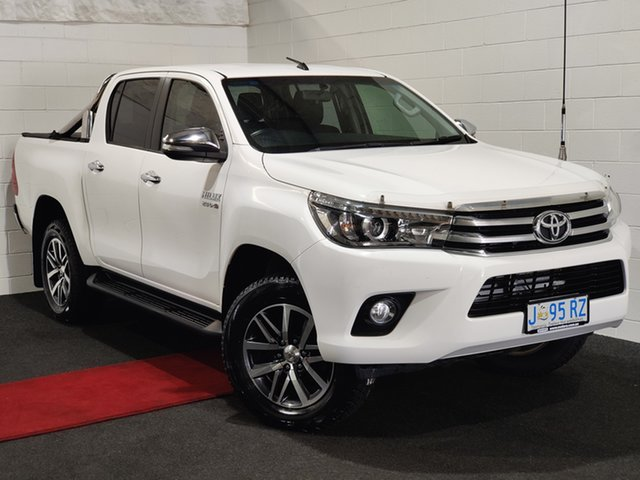 Used Toyota Hilux GUN126R SR5 Double Cab Glenorchy, 2016 Toyota Hilux GUN126R SR5 Double Cab White 6 Speed Sports Automatic Utility