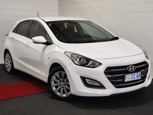 Used Hyundai i30 GD4 Series II MY17 Active Glenorchy, 2016 Hyundai i30 GD4 Series II MY17 Active White 6 Speed Sports Automatic Hatchback