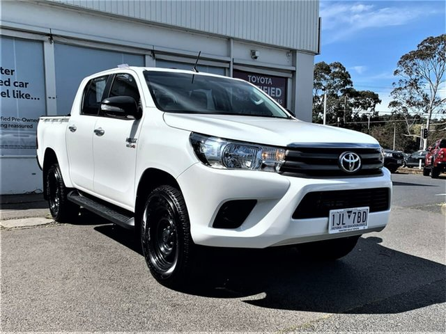 Pre-Owned Toyota Hilux GUN126R SR Double Cab Ferntree Gully, 2016 Toyota Hilux GUN126R SR Double Cab Glacier White 6 Speed Sports Automatic Utility