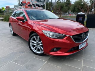 2012 Mazda 6 GJ1021 Atenza SKYACTIV-Drive Red 6 Speed Sports Automatic Wagon.
