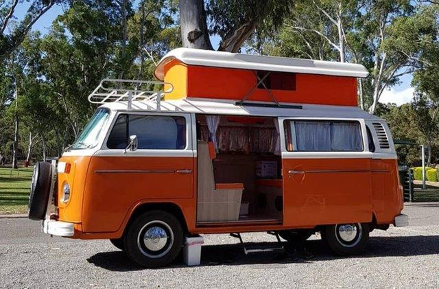 Used Volkswagen Transporter Kombi Type 2 South Melbourne, 1973 Volkswagen Transporter Kombi Type 2 Orange 3 Speed Automatic Van