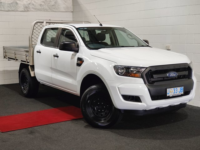 Used Ford Ranger PX MkII XL Hi-Rider Glenorchy, 2017 Ford Ranger PX MkII XL Hi-Rider Frozen White 6 Speed Sports Automatic Cab Chassis