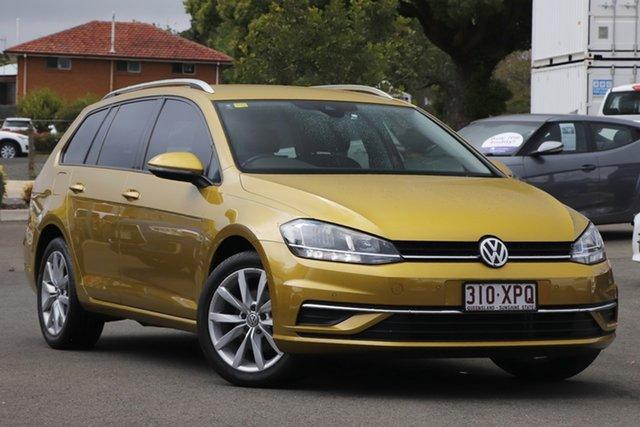 Used Volkswagen Golf 7.5 MY18 110TSI DSG Comfortline Toowoomba, 2017 Volkswagen Golf 7.5 MY18 110TSI DSG Comfortline Yellow 7 Speed Sports Automatic Dual Clutch
