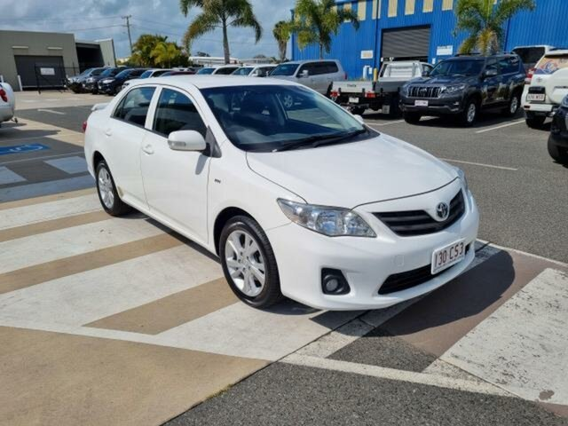 Pre-Owned Toyota Corolla ZRE152R MY11 Ascent Sport Gladstone, 2012 Toyota Corolla ZRE152R MY11 Ascent Sport Glacier White 6 Speed Manual Sedan