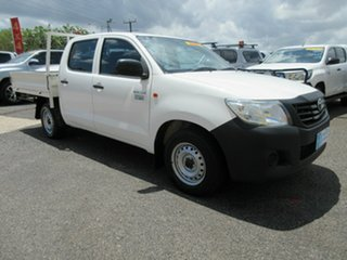2015 Toyota Hilux TGN16R MY14 Work Mate White 6 Speed Automatic Dual Cab.
